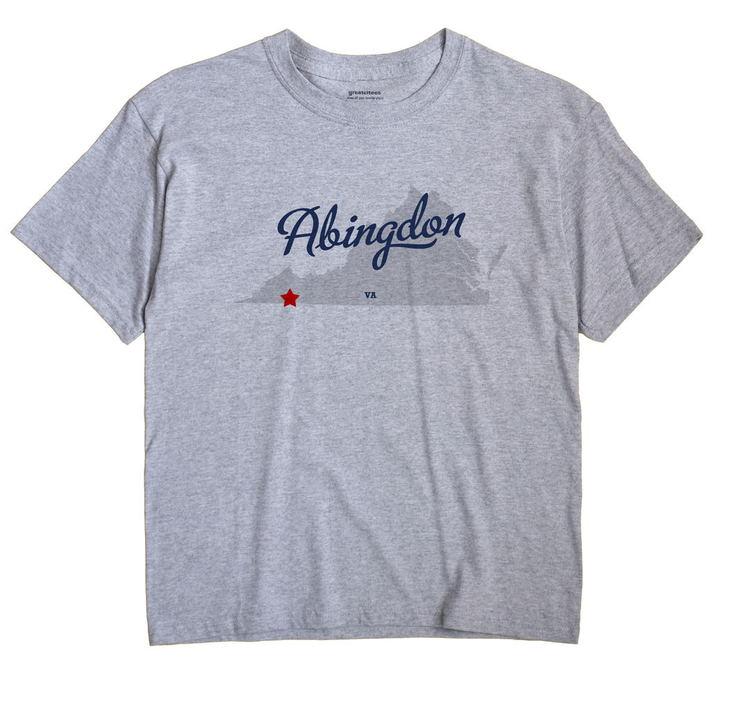 Abingdon Virginia VA T Shirt METRO WHITE Hometown Souvenir