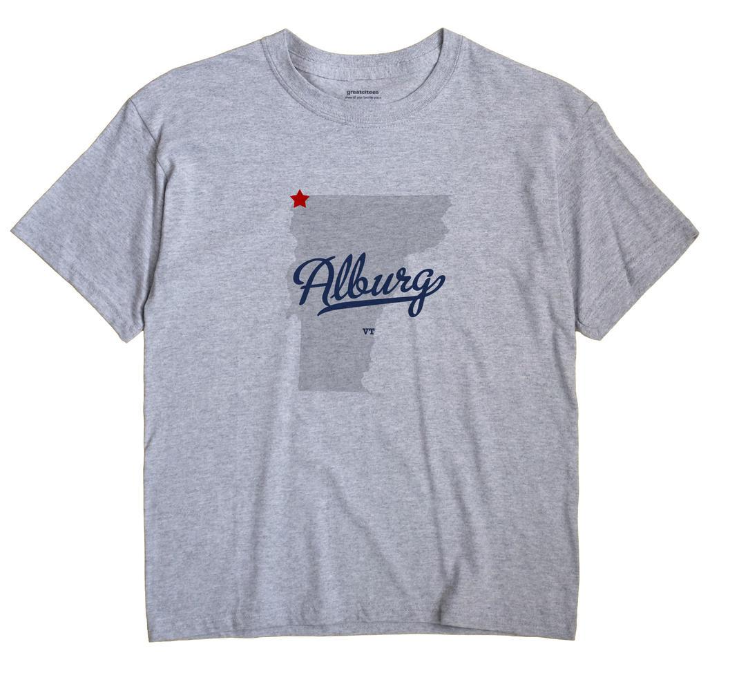 Alburg Vermont VT T Shirt METRO WHITE Hometown Souvenir