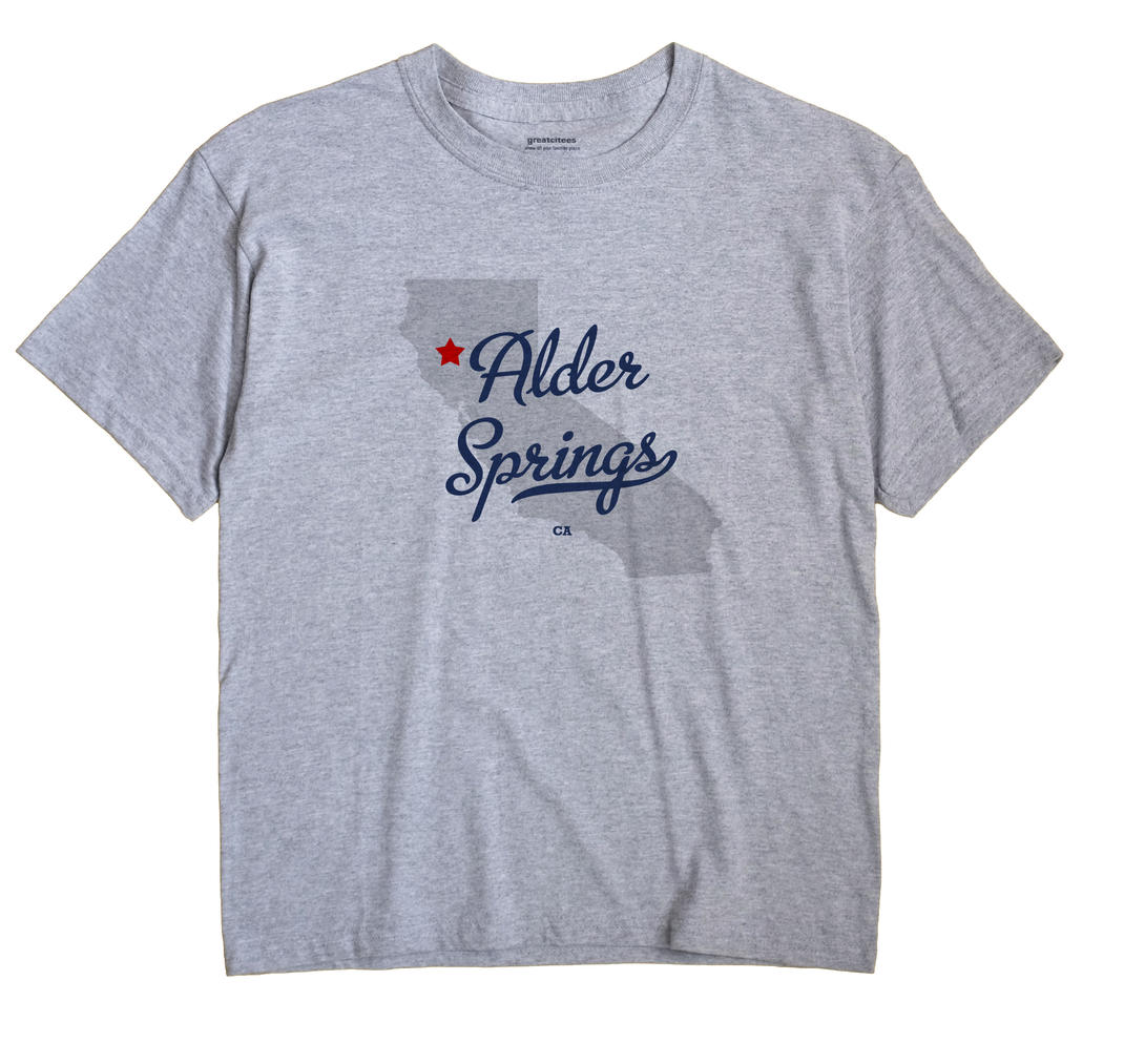 Alder Springs, Glenn County, California CA Souvenir Shirt
