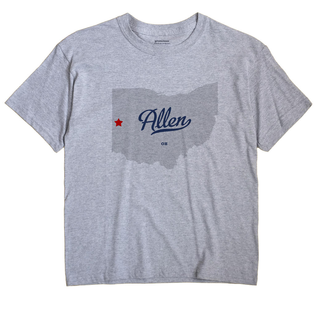 Allen, Darke County, Ohio OH Souvenir Shirt
