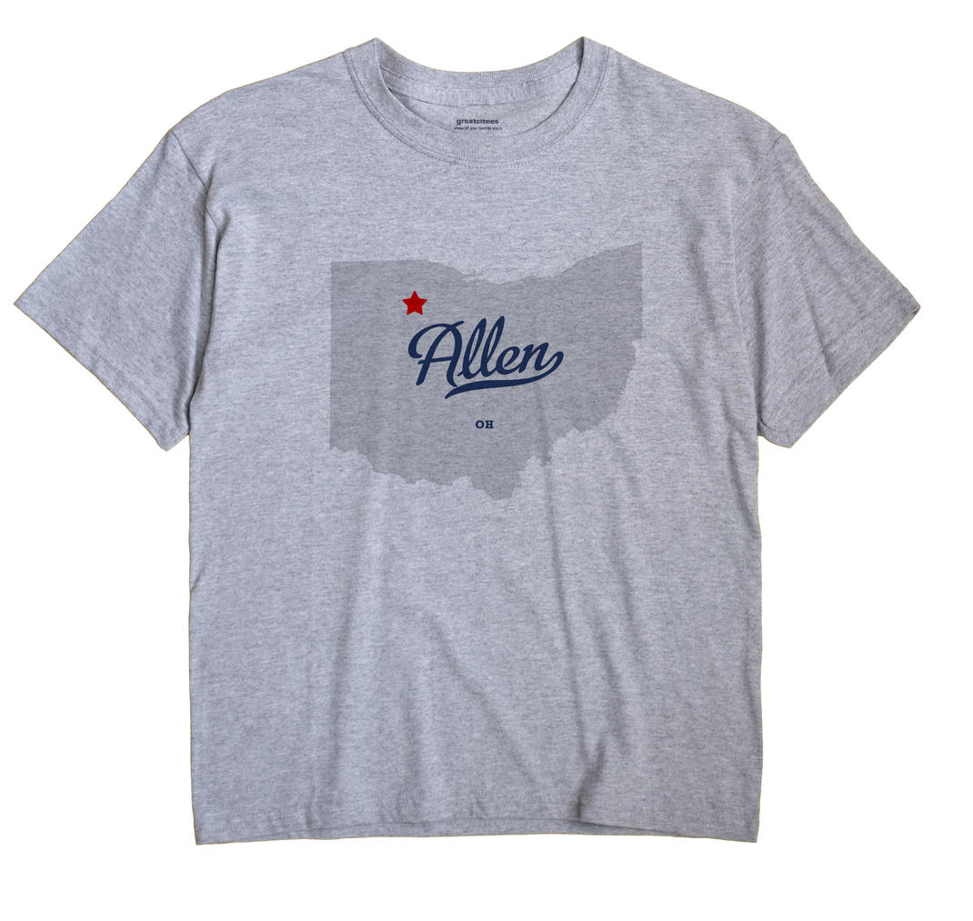 Allen, Hancock County, Ohio OH Souvenir Shirt