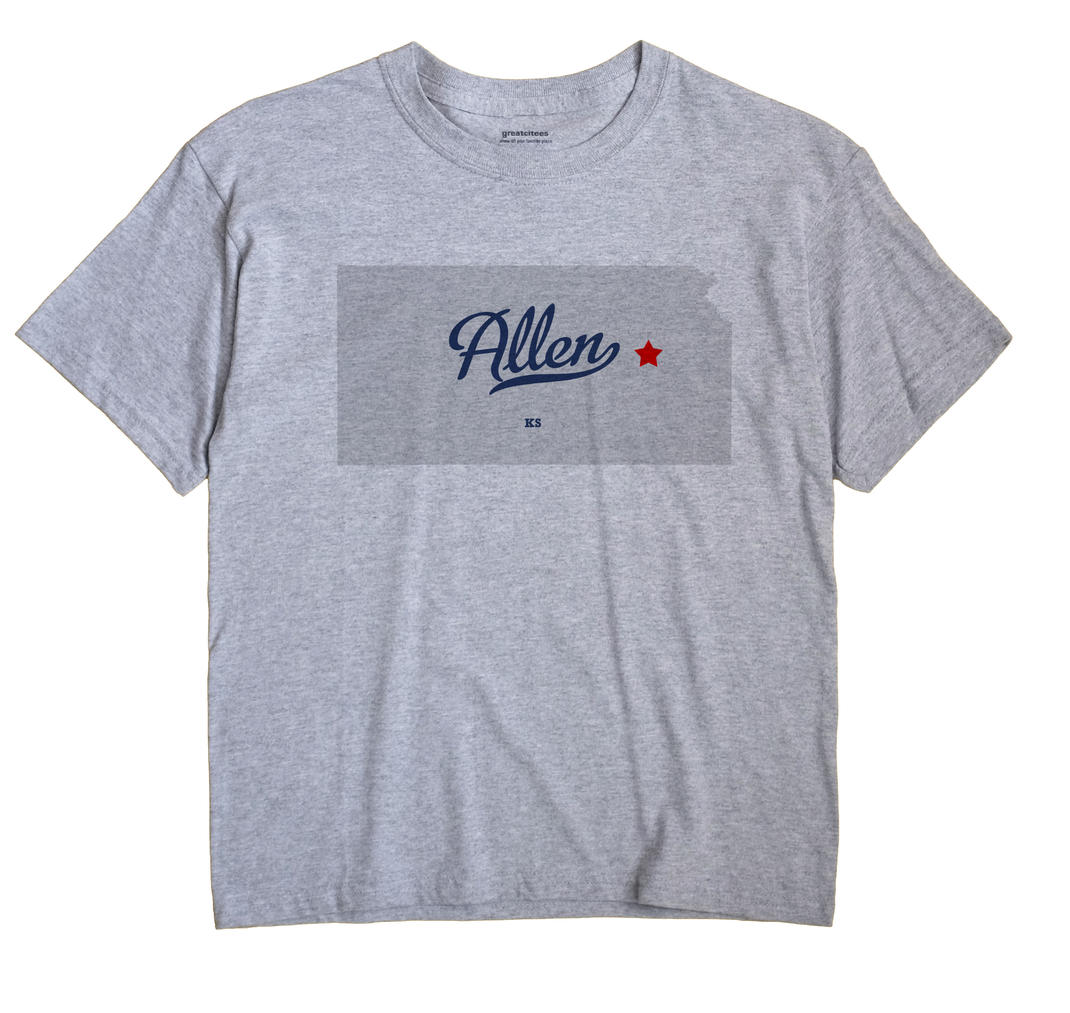 Allen, Lyon County, Kansas KS Souvenir Shirt