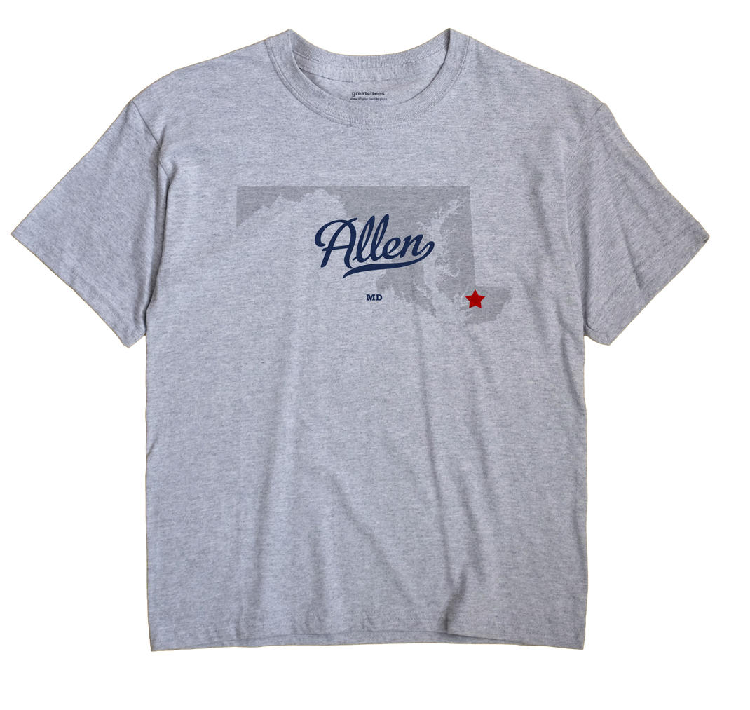 Allen, Maryland MD Souvenir Shirt
