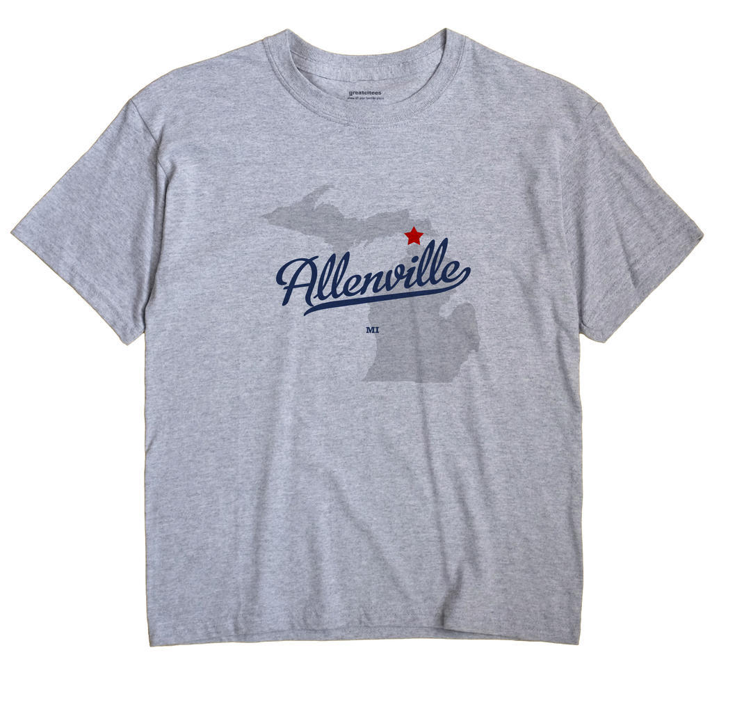 Allenville, Michigan MI Souvenir Shirt