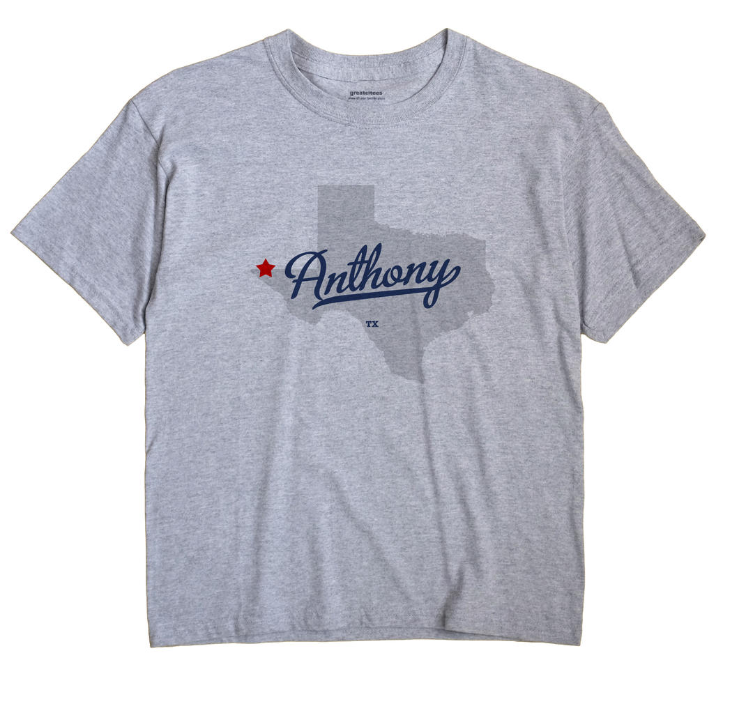 Anthony Texas TX T Shirt METRO WHITE Hometown Souvenir