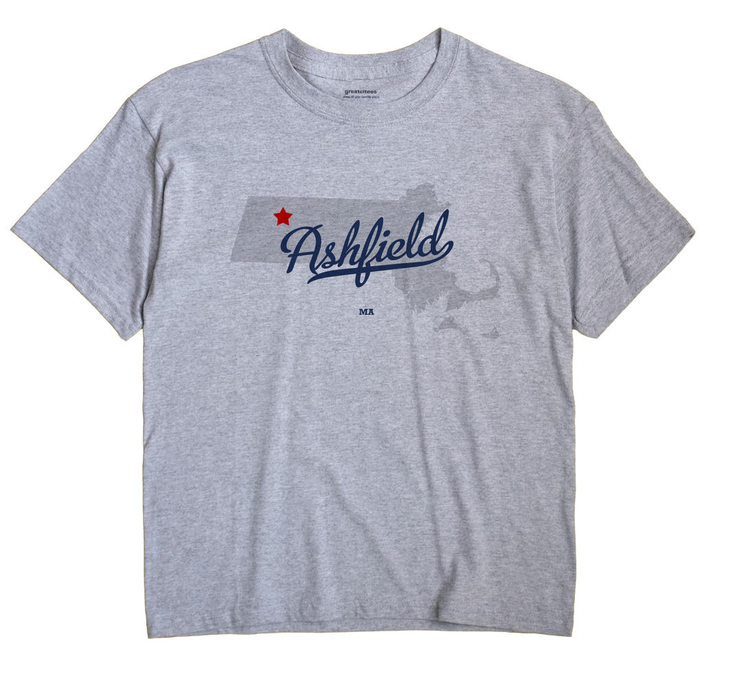 Ashfield Massachusetts MA T Shirt METRO WHITE Hometown Souvenir