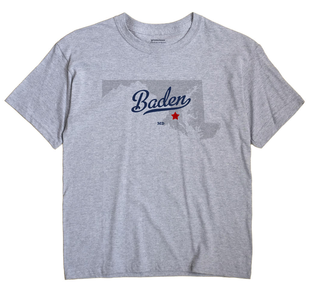 Baden, Maryland MD Souvenir Shirt