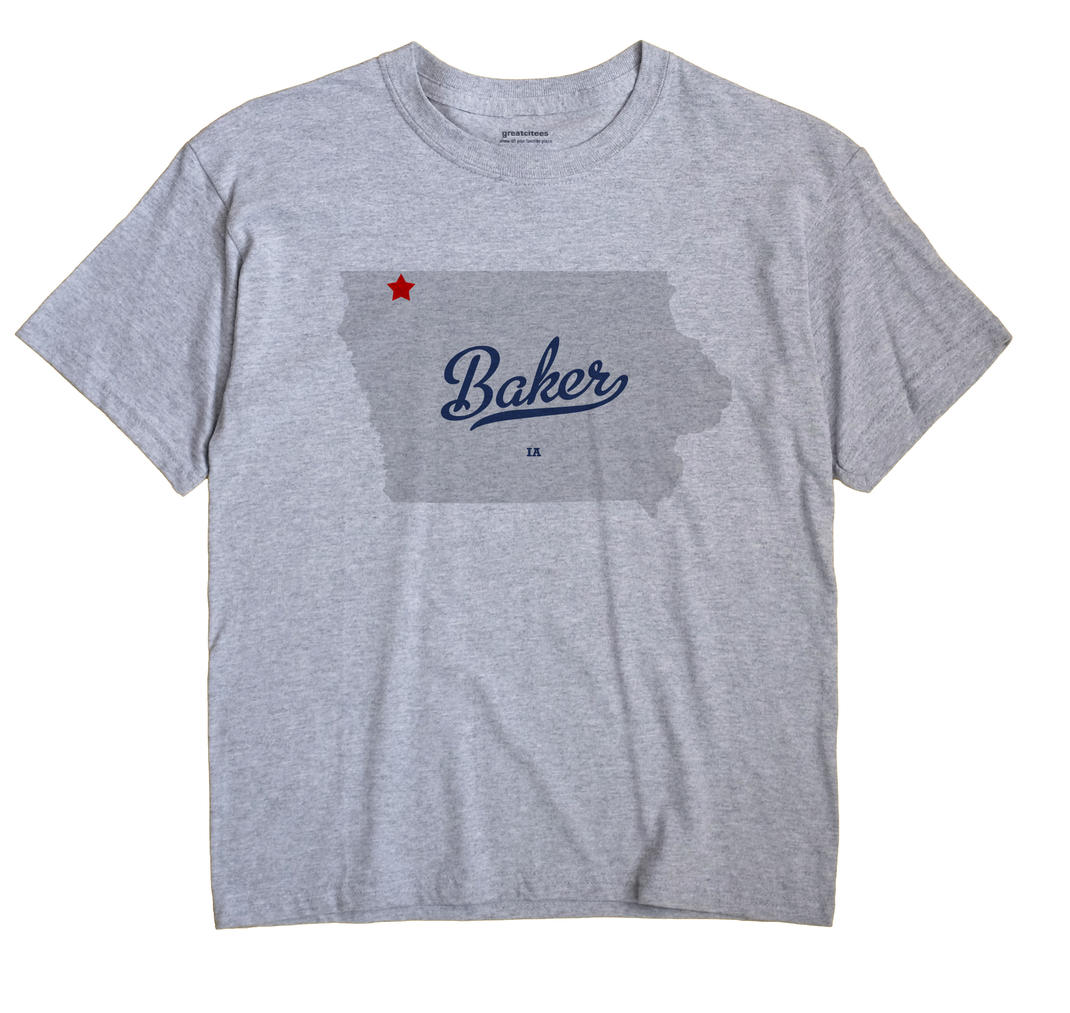 Baker, Osceola County, Iowa IA Souvenir Shirt