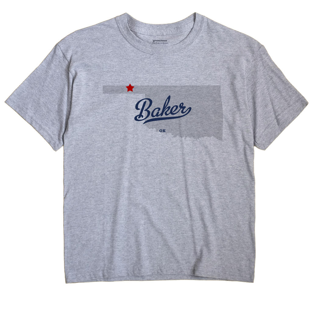 Baker, Oklahoma OK Souvenir Shirt