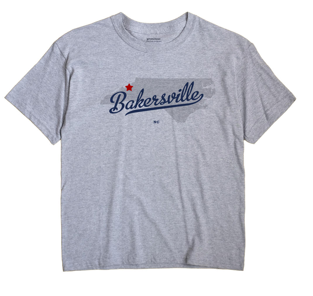 Bakersville, North Carolina NC Souvenir Shirt
