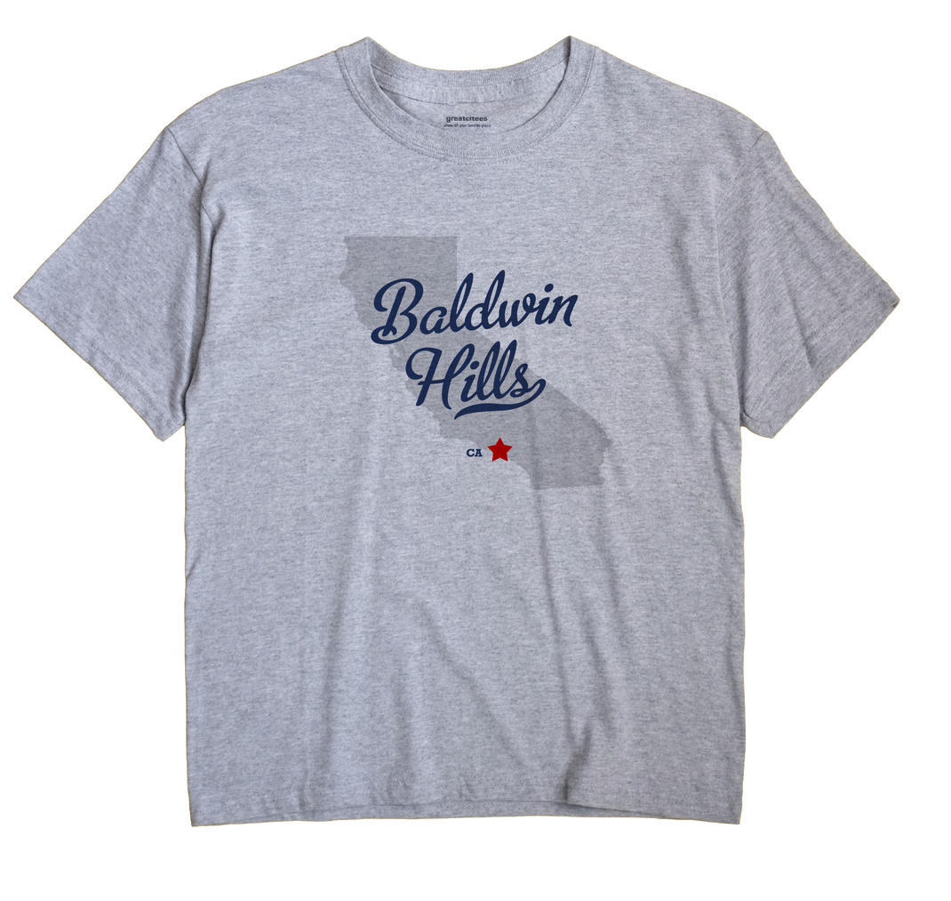 Baldwin Hills, California CA Souvenir Shirt