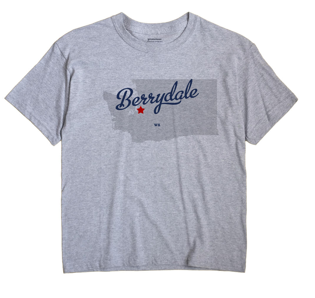 Berrydale Washington WA T Shirt METRO WHITE Hometown Souvenir
