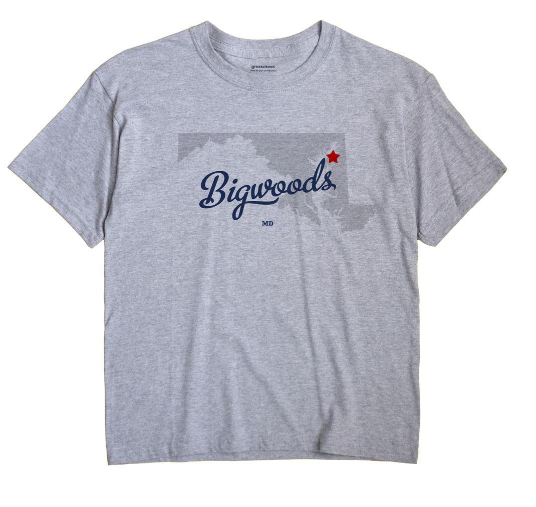 Bigwoods, Maryland MD Souvenir Shirt