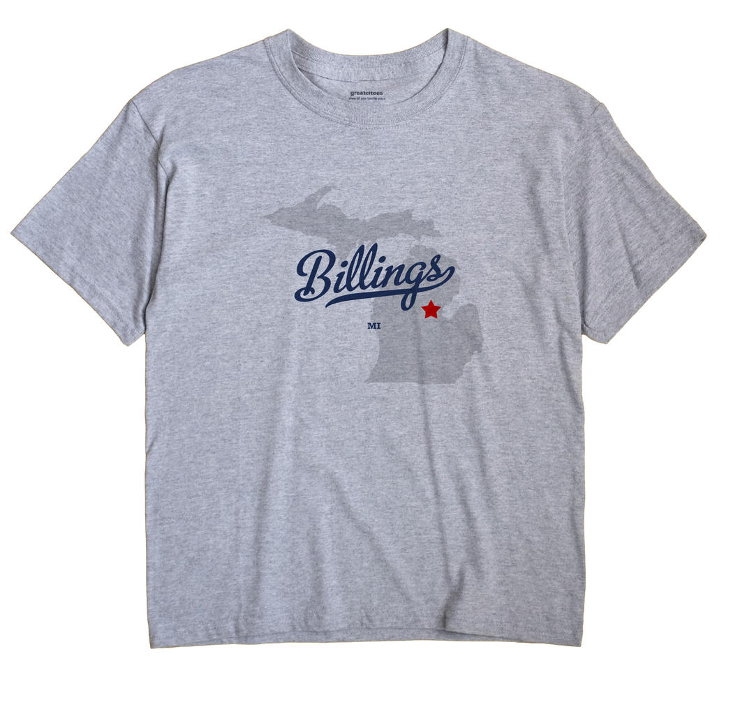 Billings, Michigan MI Souvenir Shirt