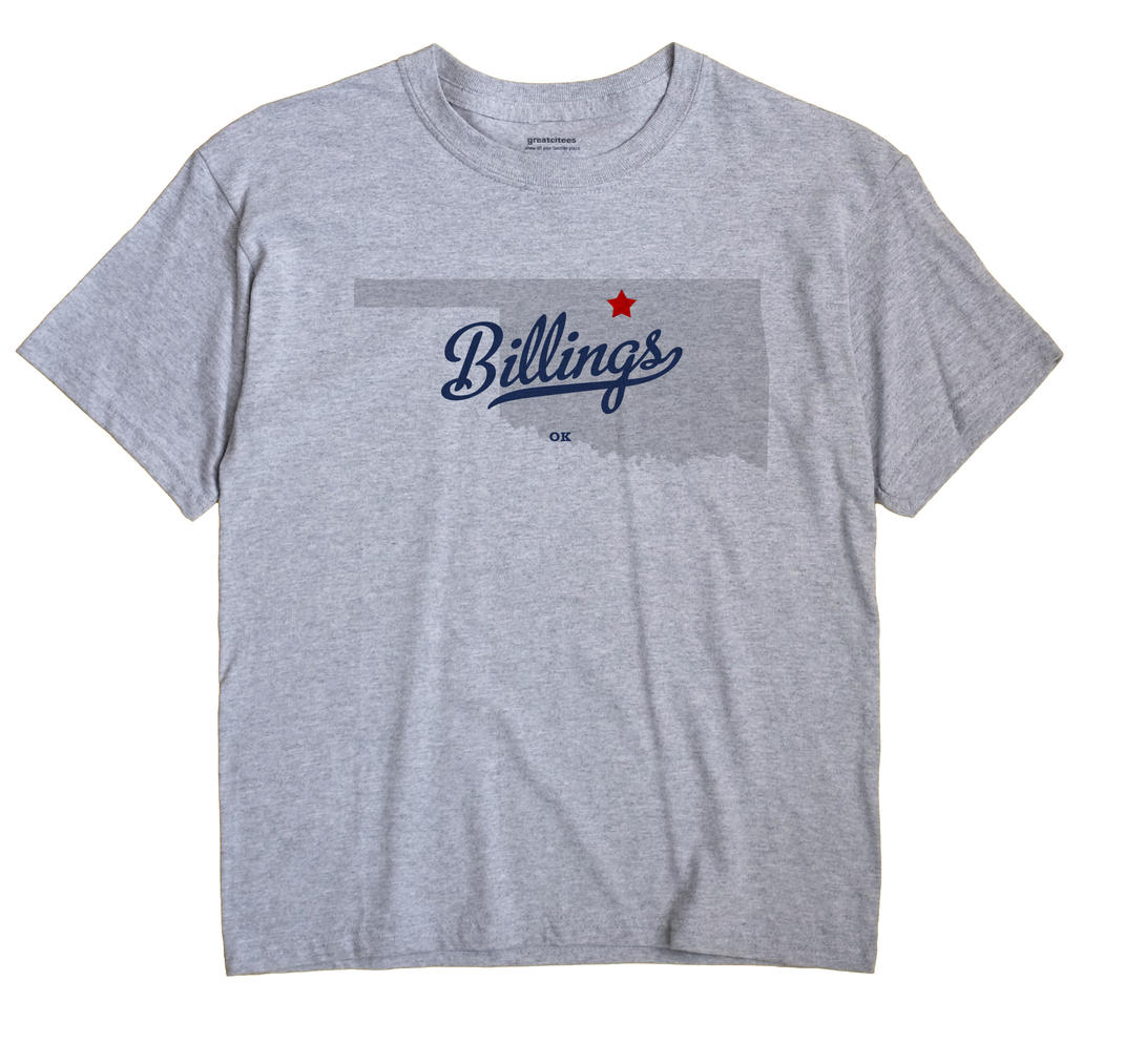 Billings, Oklahoma OK Souvenir Shirt