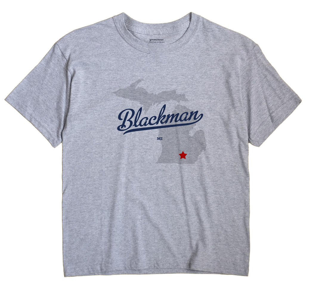 Blackman Michigan MI T Shirt GIGI WHITE Hometown Souvenir