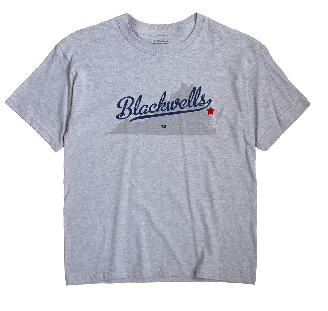 Blackwells, Virginia VA Souvenir Shirt