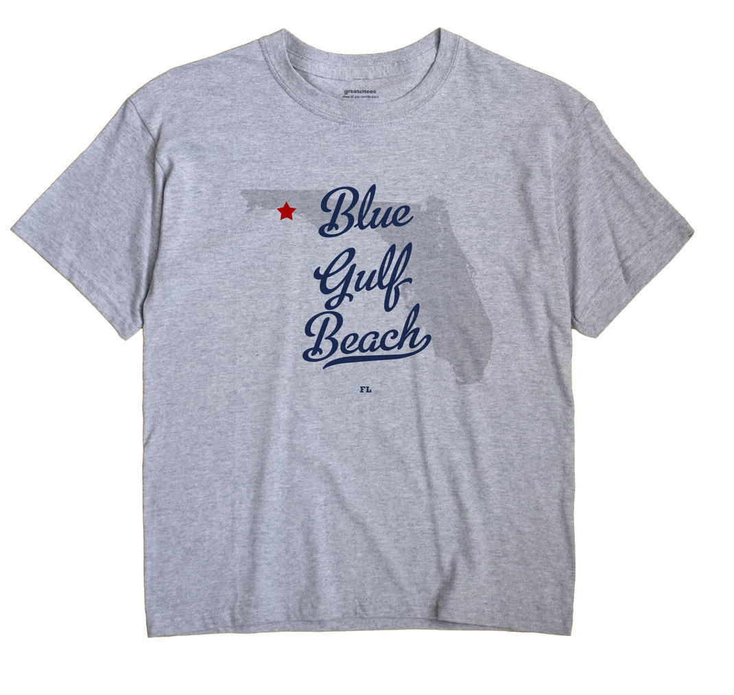 Blue Gulf Beach, Florida FL Souvenir Shirt