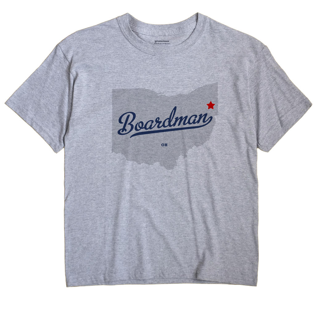 Boardman Ohio OH T Shirt METRO WHITE Hometown Souvenir