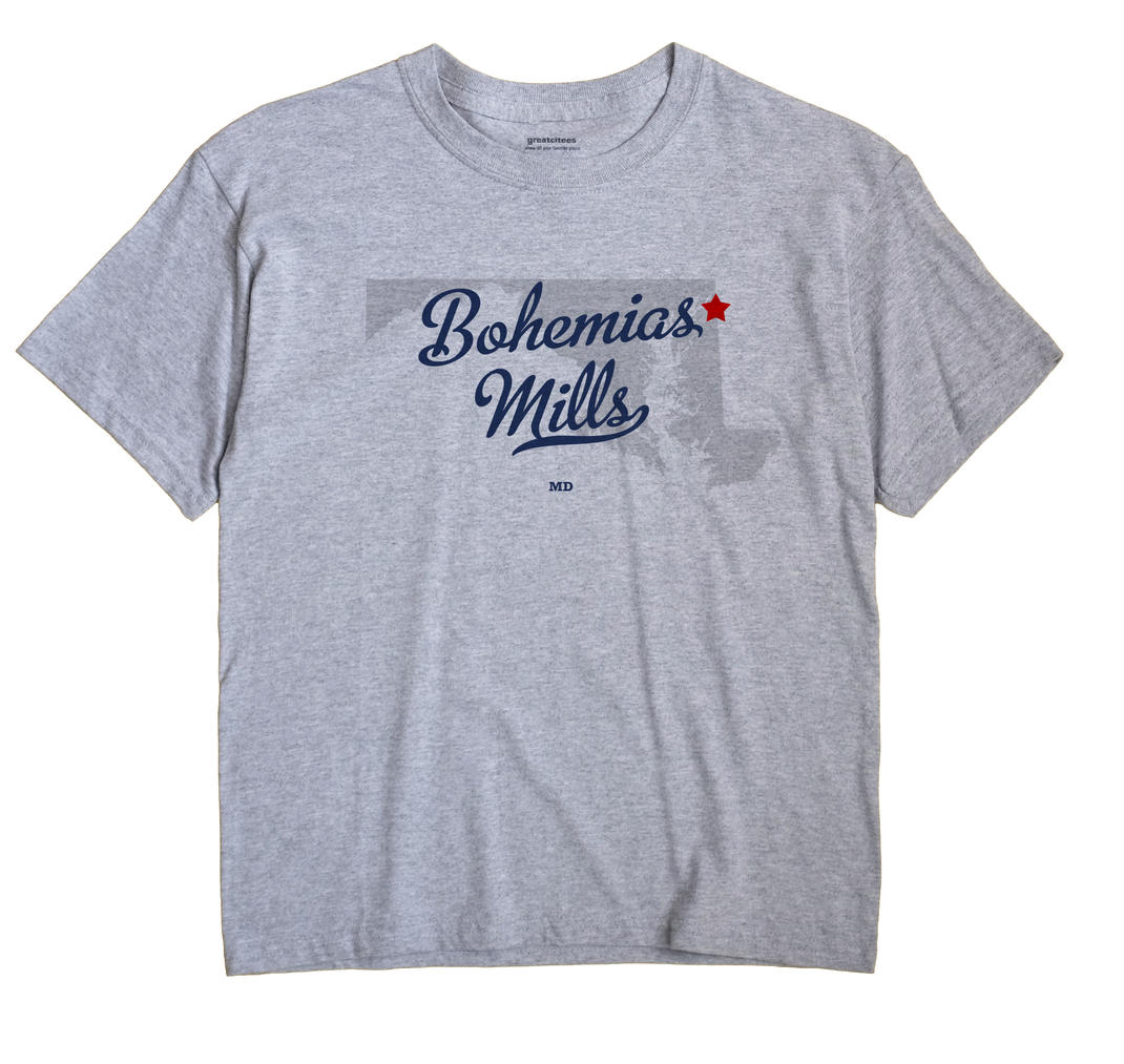 Bohemias Mills, Maryland MD Souvenir Shirt