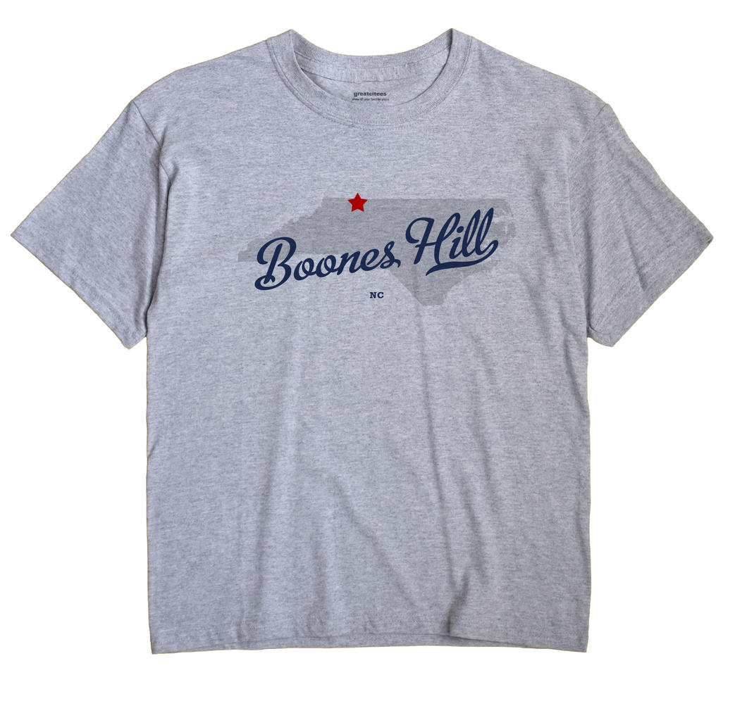 Boones Hill, North Carolina NC Souvenir Shirt