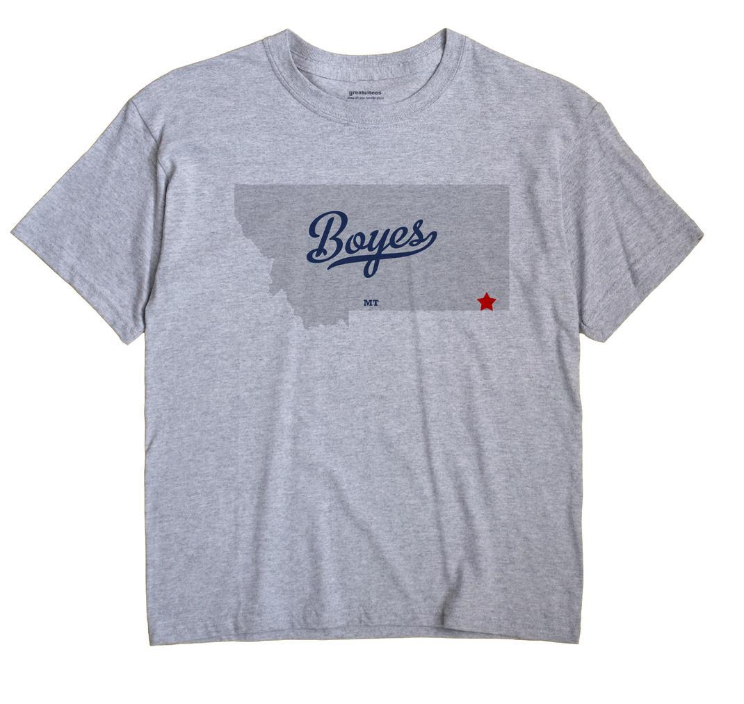 Boyes, Montana MT Souvenir Shirt