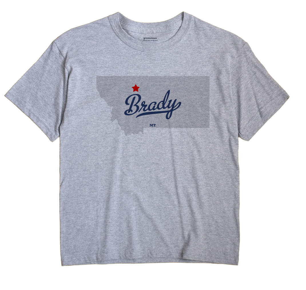 Brady, Montana MT Souvenir Shirt