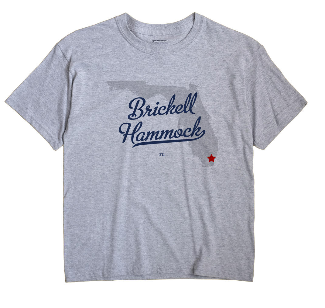 Medium image of brickell hammock florida fl souvenir shirt