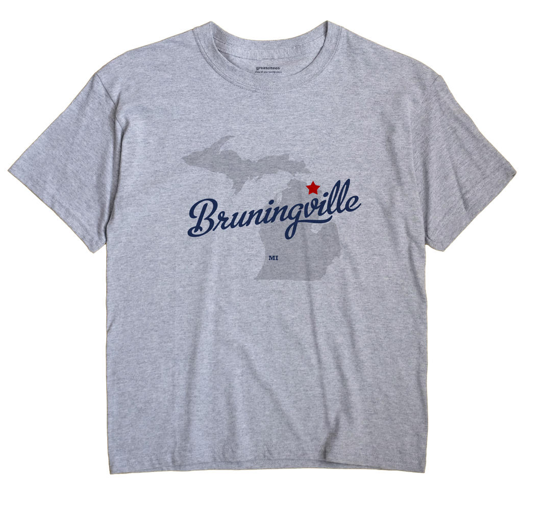 Bruningville, Michigan MI Souvenir Shirt