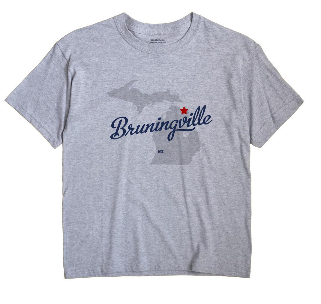 Bruningville, Michigan MI Souvenir Shirt