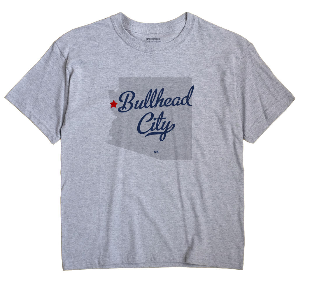 Bullhead City Arizona AZ T Shirt METRO WHITE Hometown Souvenir