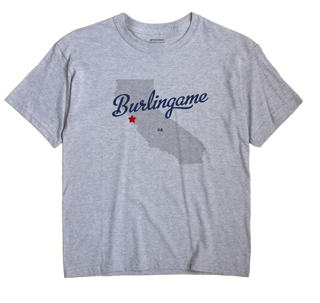 Burlingame, California CA Souvenir Shirt