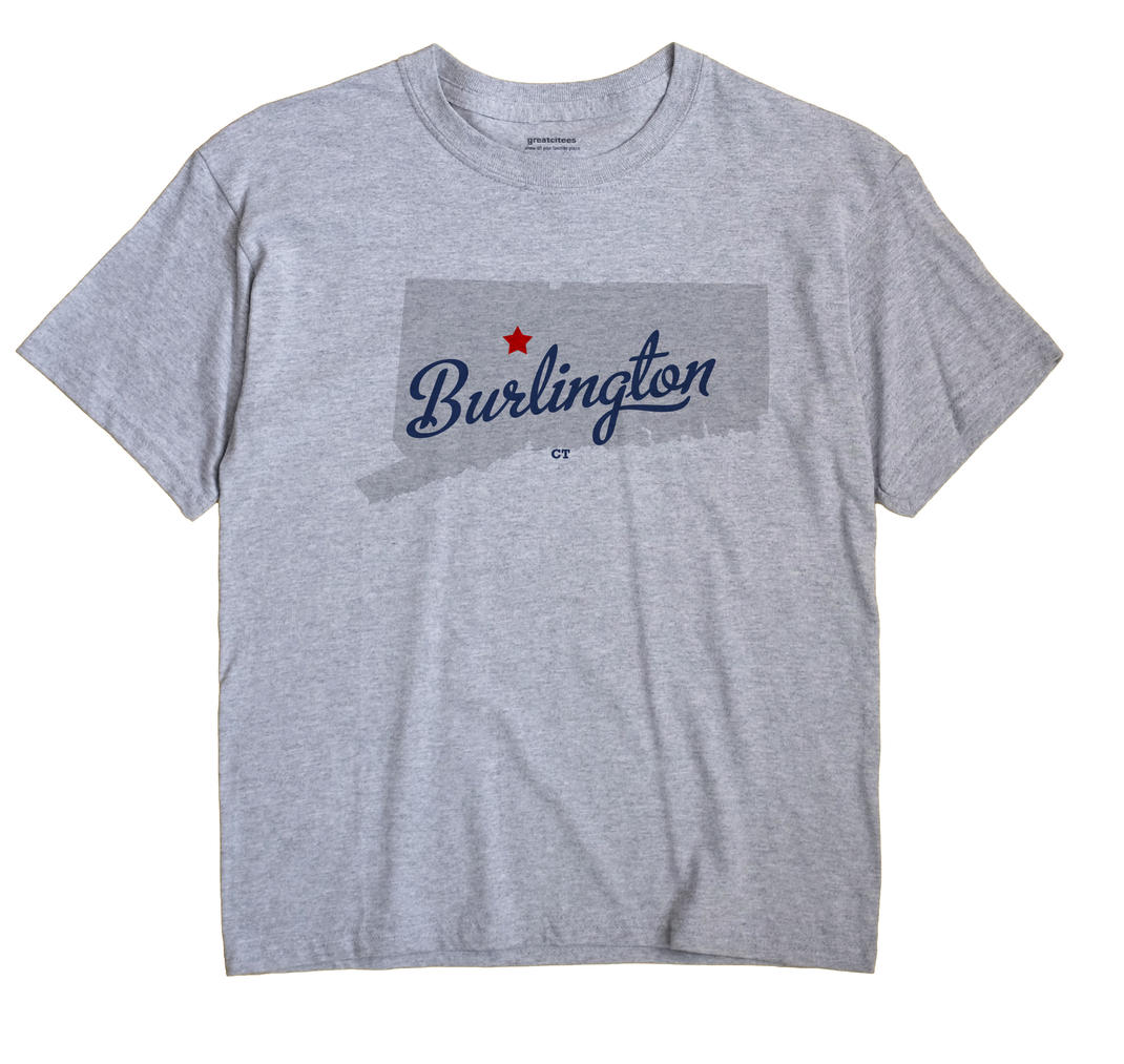 Burlington Connecticut CT T Shirt METRO WHITE Hometown Souvenir