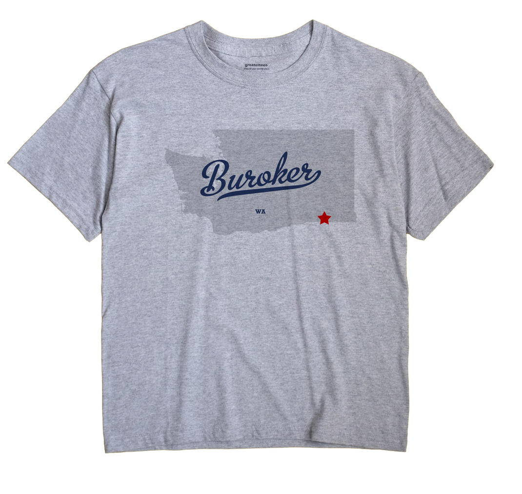 Buroker, Washington WA Souvenir Shirt