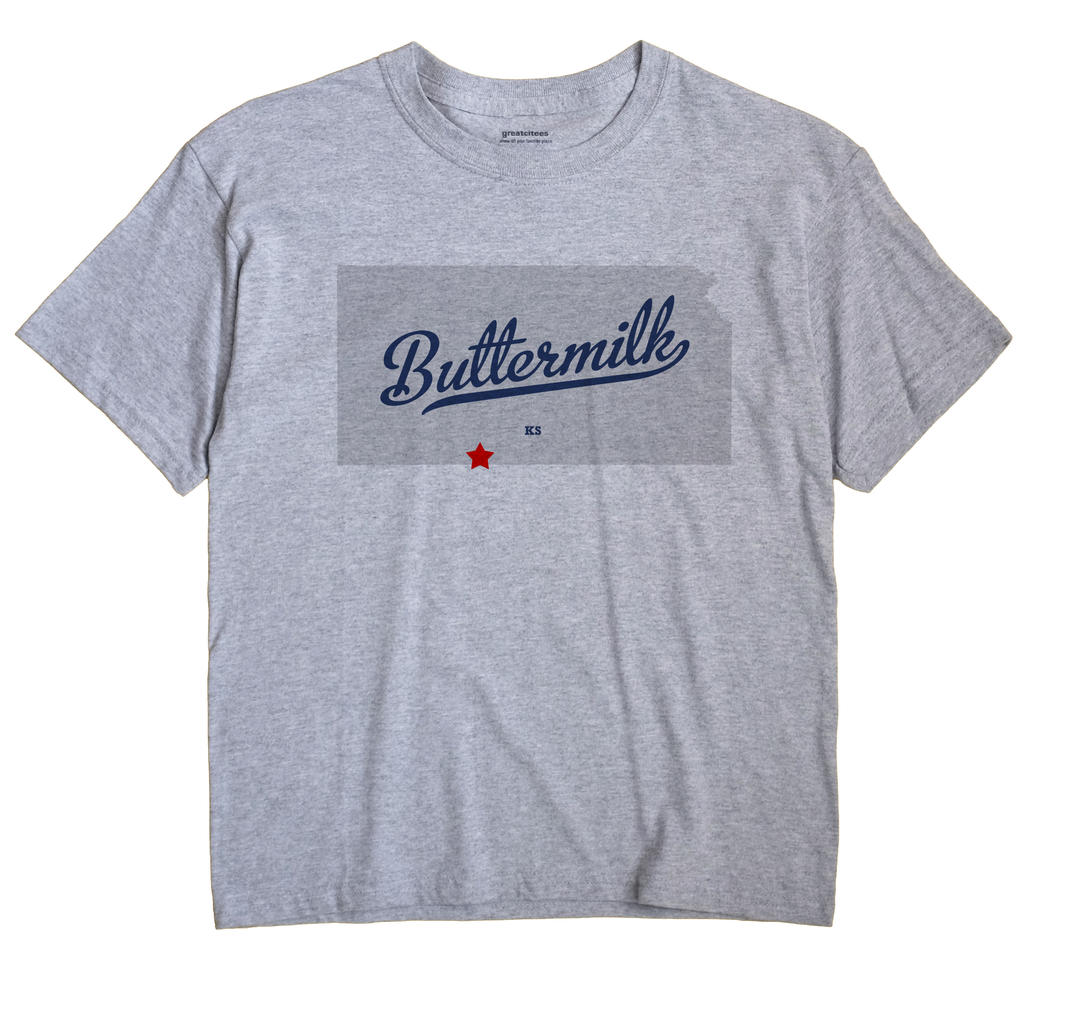 Buttermilk, Kansas KS Souvenir Shirt