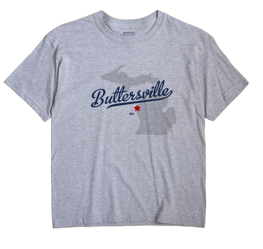 Buttersville, Michigan MI Souvenir Shirt