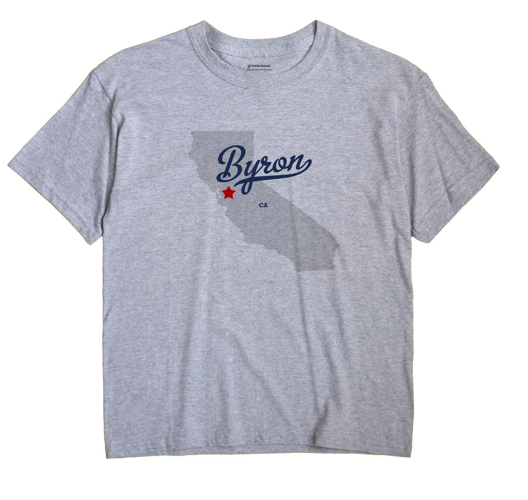 Byron California CA T Shirt METRO WHITE Hometown Souvenir