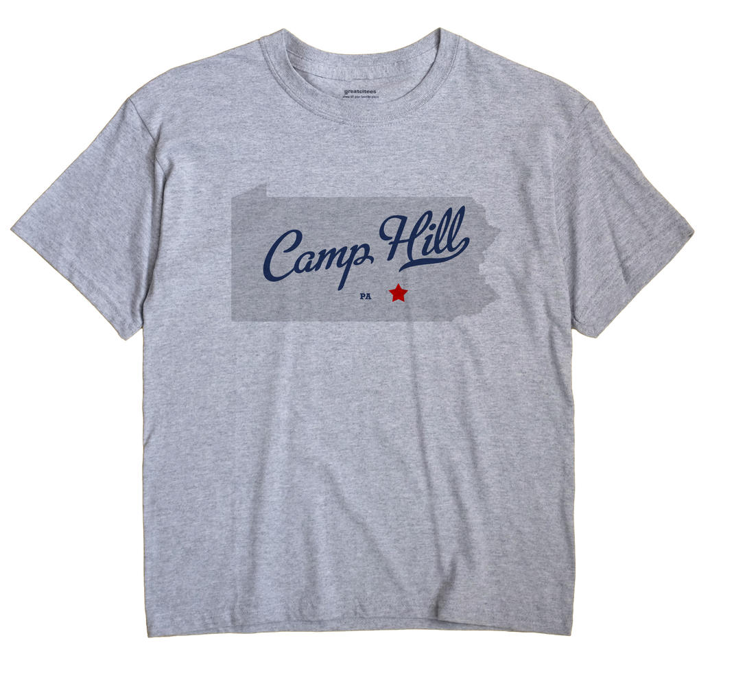 Camp Hill Pennsylvania PA T Shirt METRO WHITE Hometown Souvenir