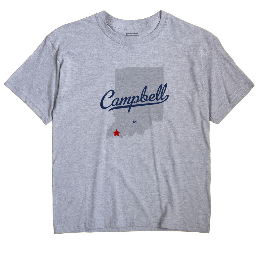 Campbell, Warrick County, Indiana IN Souvenir Shirt