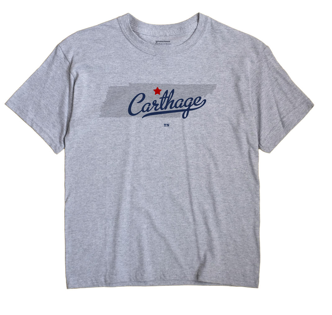 Carthage Tennessee TN T Shirt METRO WHITE Hometown Souvenir