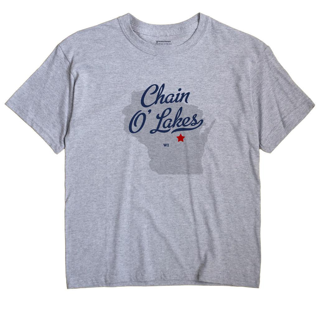 Chain O' Lakes, Wisconsin WI Souvenir Shirt