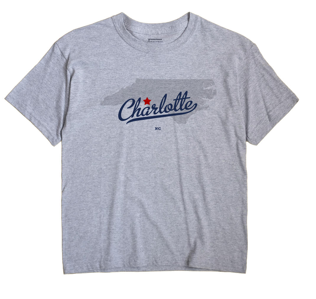 Charlotte North Carolina NC T Shirt METRO WHITE Hometown Souvenir