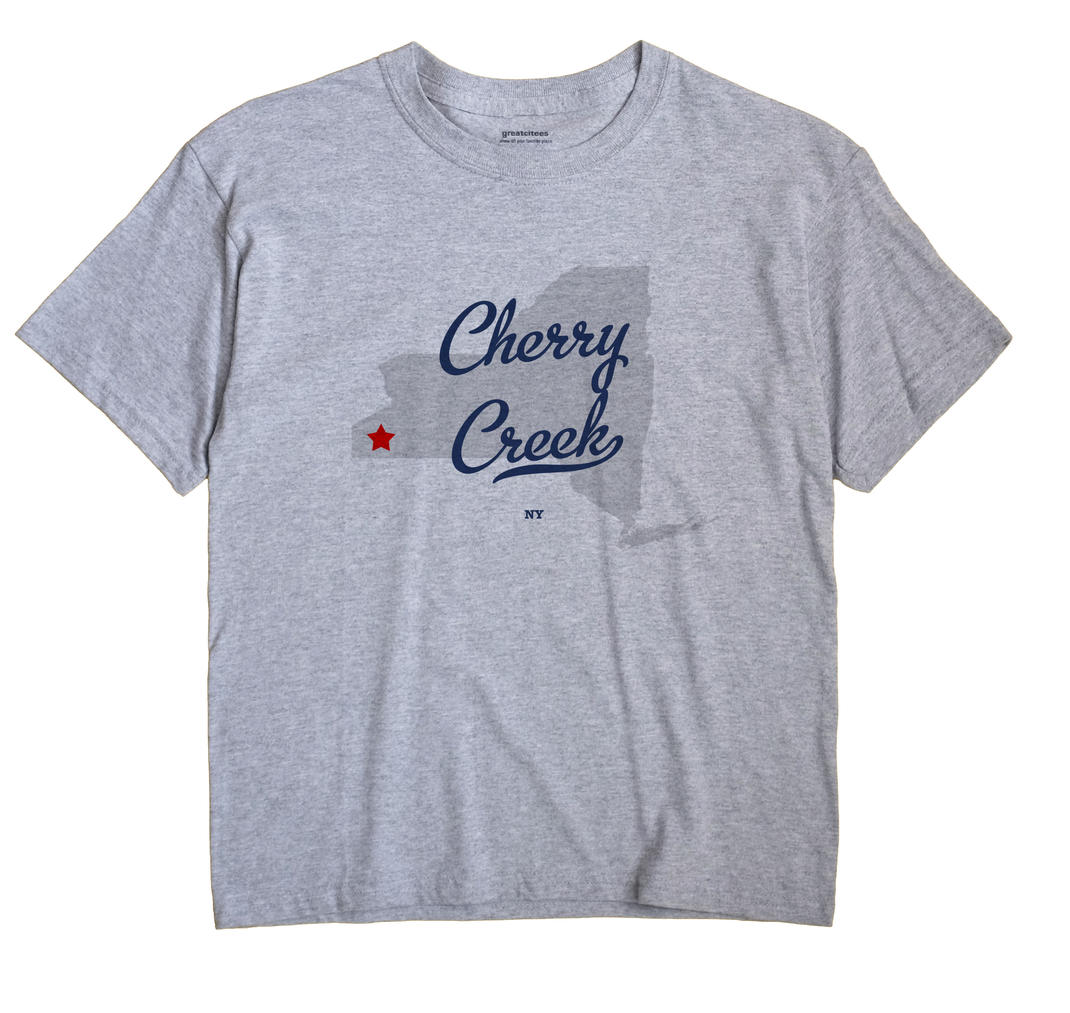 Cherry Creek New York NY T Shirt CANDY WHITE Hometown Souvenir