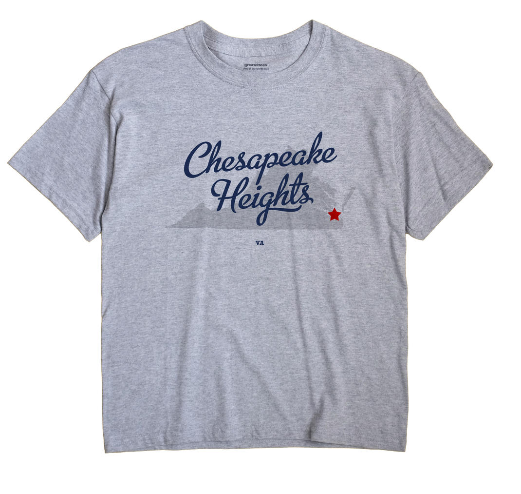 Chesapeake Heights, Virginia VA Souvenir Shirt