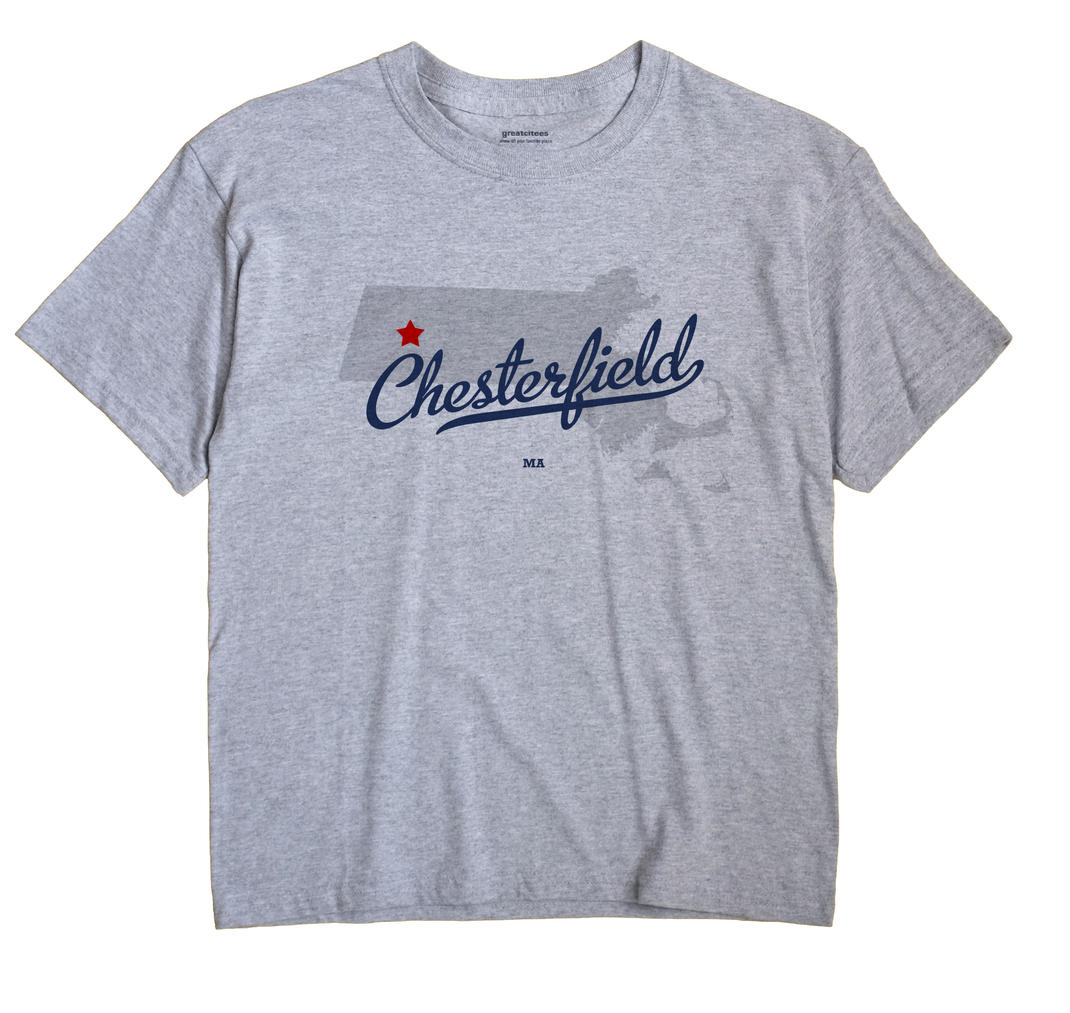Chesterfield Massachusetts MA T Shirt METRO WHITE Hometown Souvenir