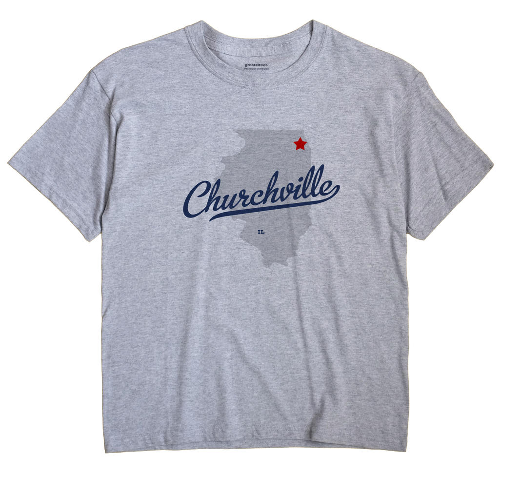 Churchville, Illinois IL Souvenir Shirt