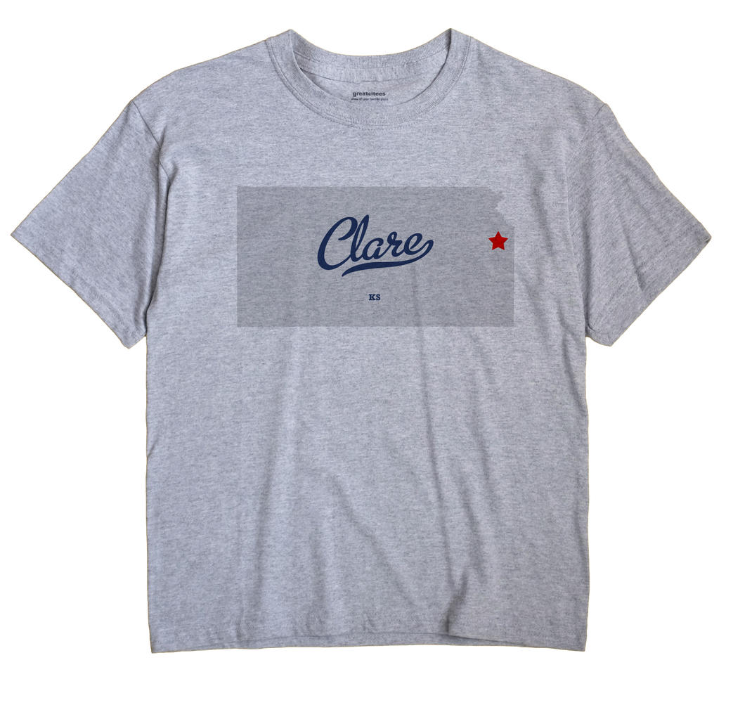 Clare, Kansas KS Souvenir Shirt