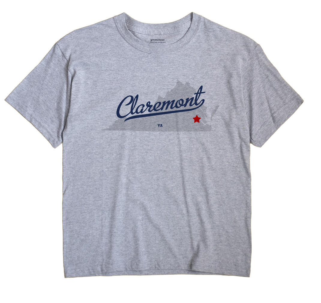 Claremont, Surry County, Virginia VA Souvenir Shirt