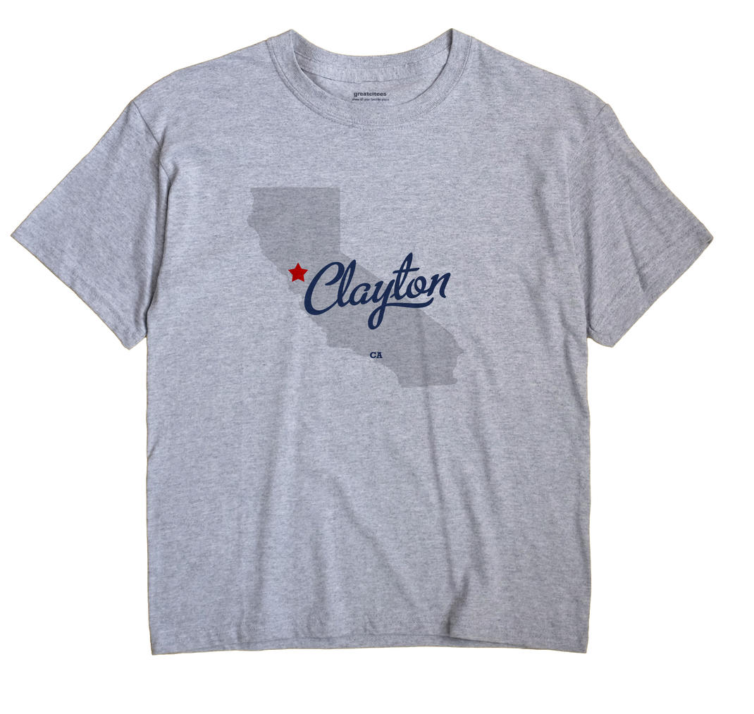 Clayton California CA T Shirt METRO WHITE Hometown Souvenir