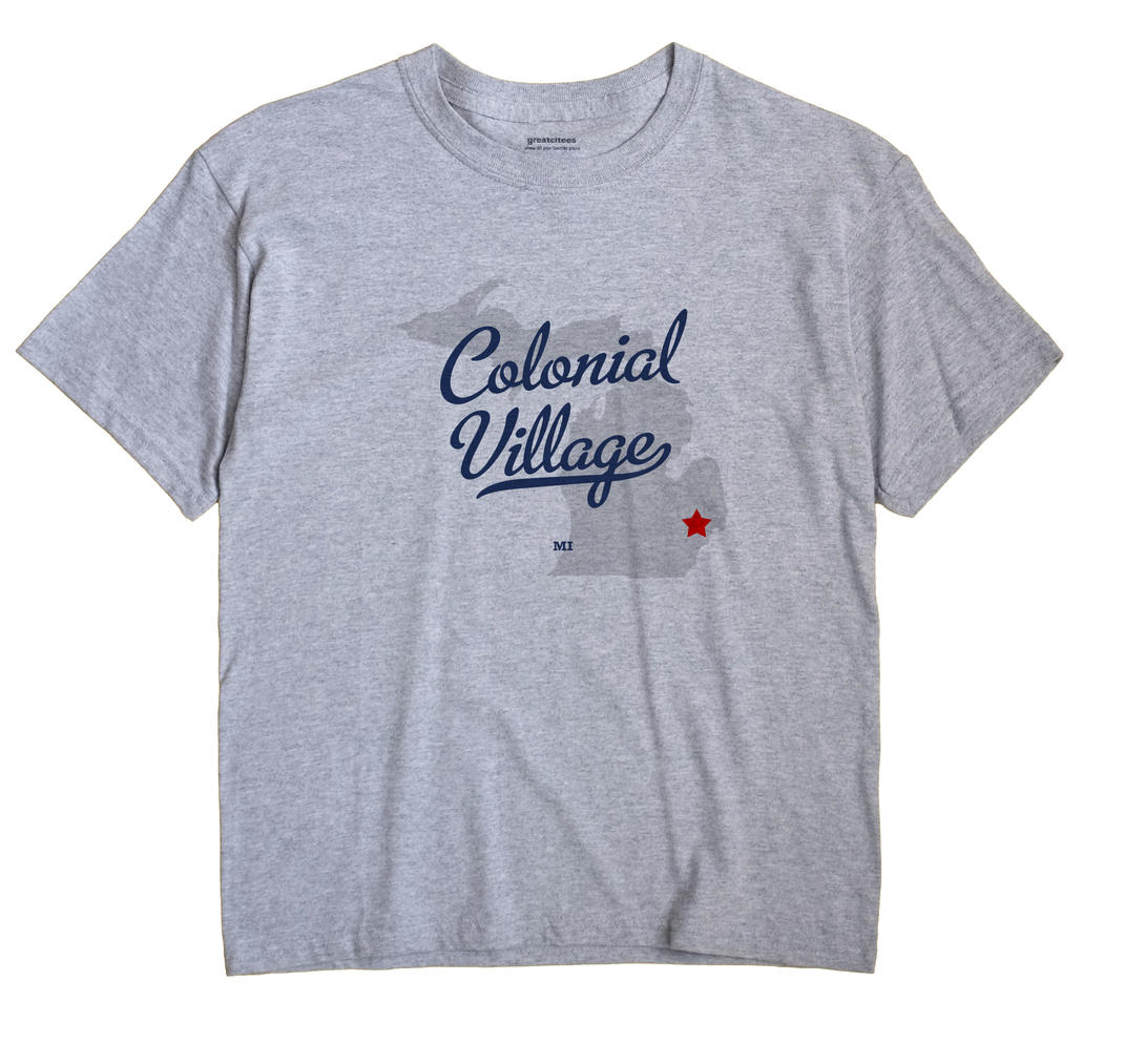 Colonial Village, Michigan MI Souvenir Shirt